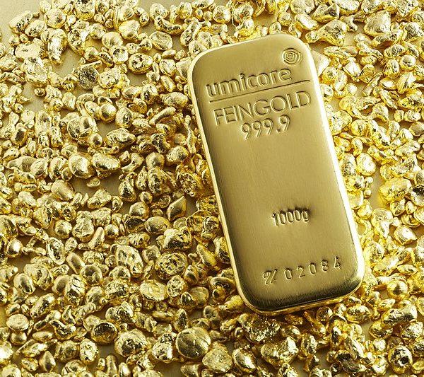 gold bar on gold melt