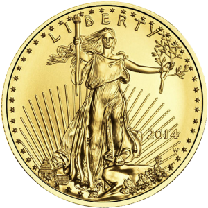 American Gold Eagle coin 1 oz front